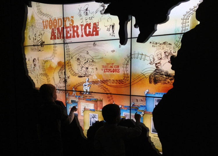 woody guthrie video wall