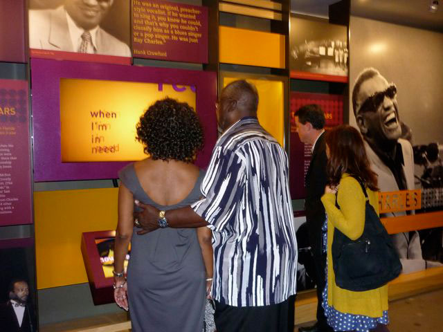 Audio visual installation by MODE Systems in the Ray Charles Museum visitors1